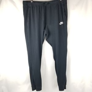 Nike Tapered Black Tie Joggers Men's size XL